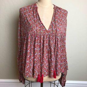 Zara floral boho style swing top
